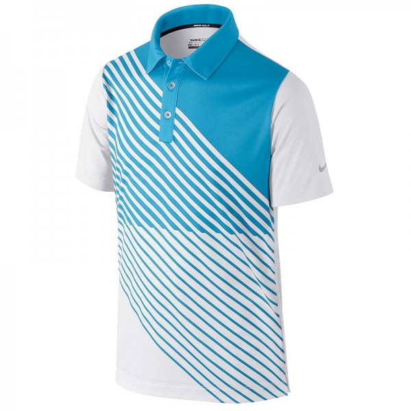 Nike Junior Novelty Graphic Golfpolo Weiss/Blau
