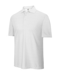 Adidas Junior Climacool Textured Solid Golfpolo weiss