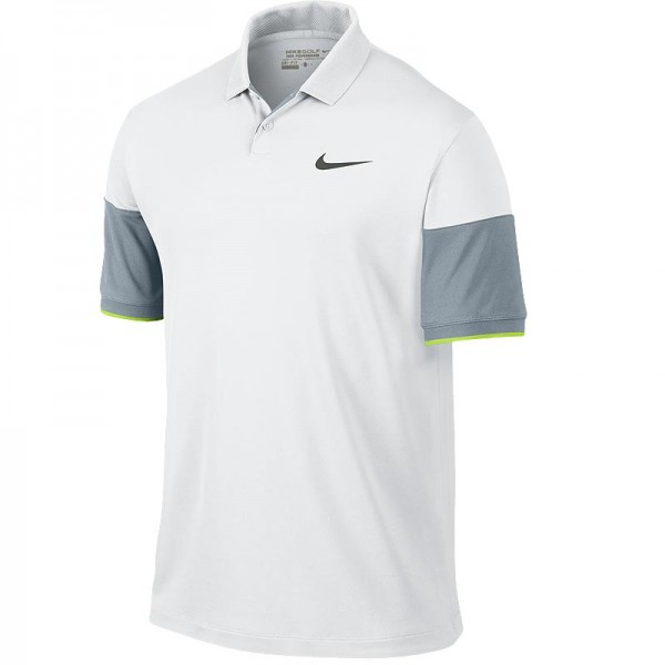 Nike Herren Modern Major Moment Commander Poloshirt Weiss/Grau/Volt