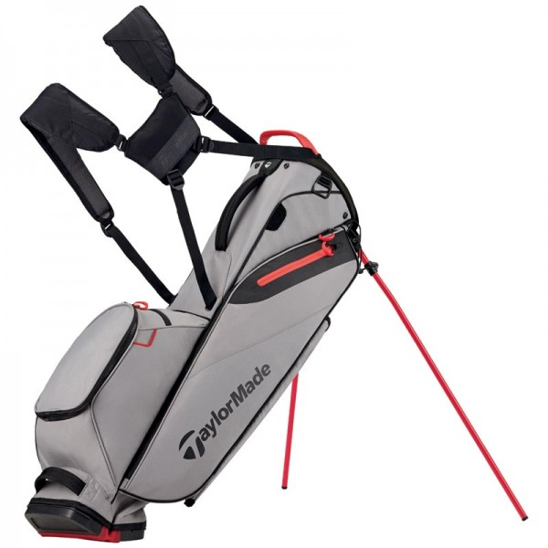 TaylorMade Flextech Light Standbag grau/rot