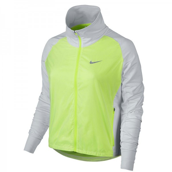 Nike Damen Long Links Golfjacke Weiss/Volt