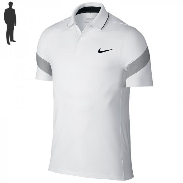 Nike Herren Major Moment Fly Framing Commander Poloshirt Weiss