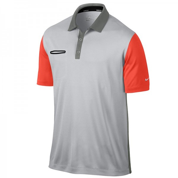 Nike Herren LTWT Innovation Colour Poloshirt Grau /Turf Orange