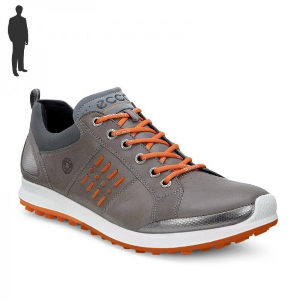 Ecco Biom Hybrid 2 Gore-Tex Herren Golfschuhe Warm Grey/Orange