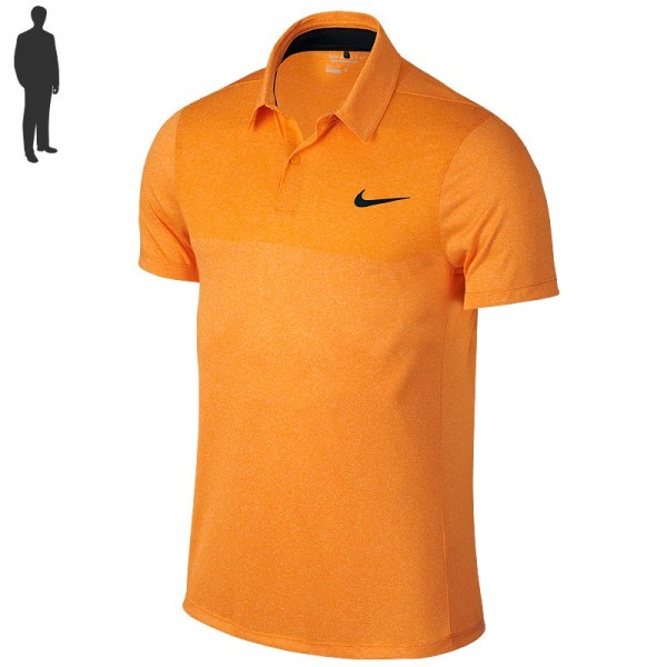 Nike Major Moment Fly Swing Knit Block Poloshirt Orange