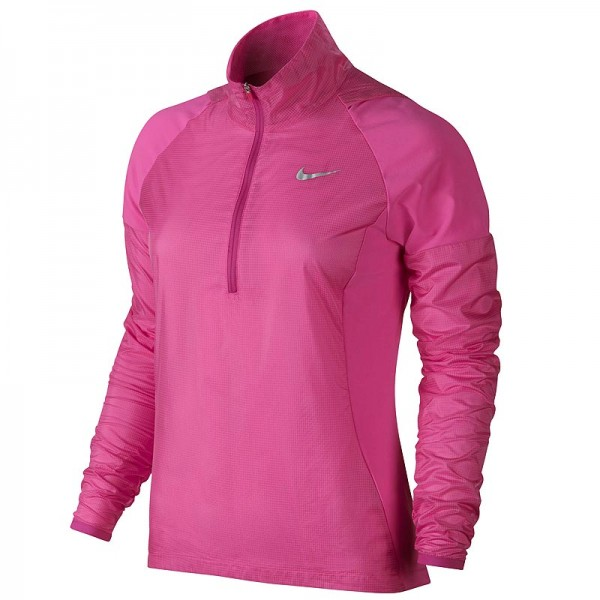 Nike Damen Hyperadapt Golf Wind Half-Zip Jacke Hot Pink